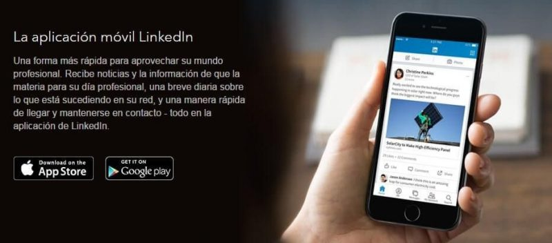 linkedin movil